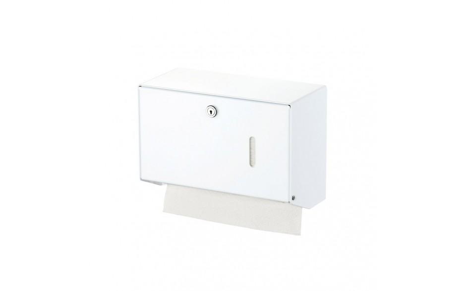 Papierhandtuchspender für 400 Tücher, Aluminium weiß pulverbeschichtet