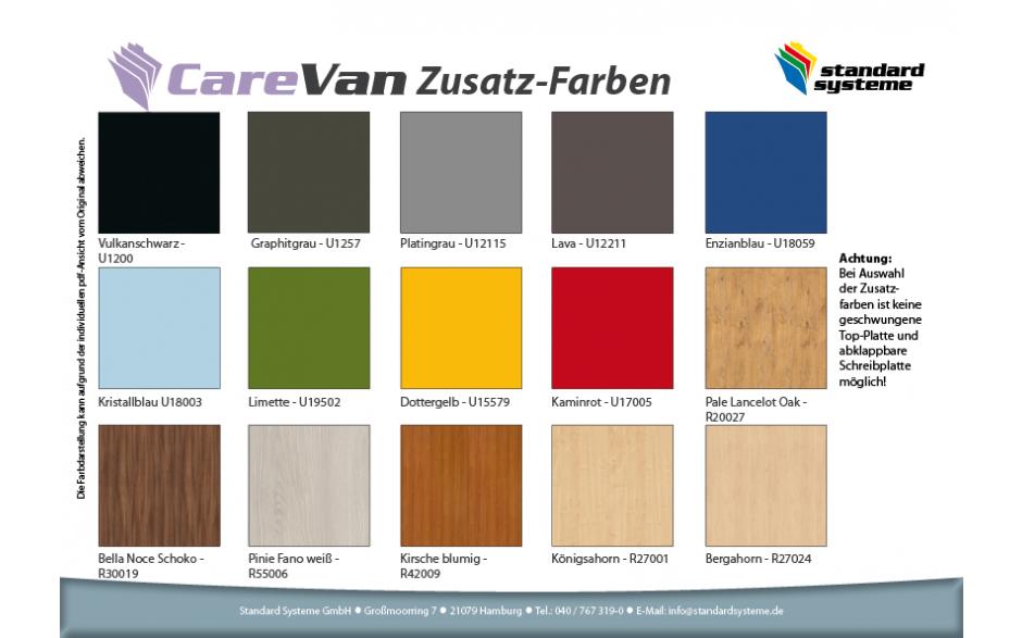 CareVan Zusatzfarben