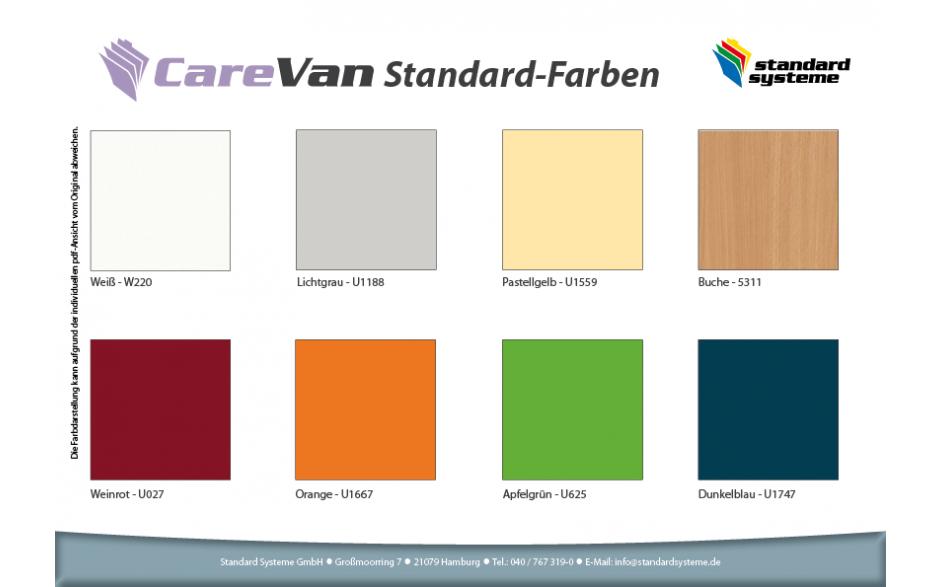 CareVan Standardfarben