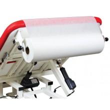 Papierrollenhalter am beweglichen Kopfteil montiert
